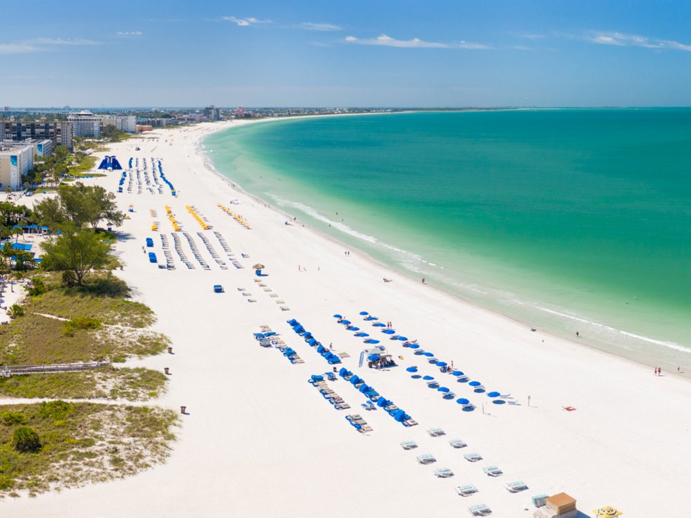Aerial view of St. Pete beach